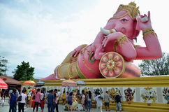 Lord Ganesh camp bed take pleasure Royalty Free Stock Photos