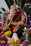 Lord Ganesh with his favourite Modak during Ganesh Puja celebration stock photos