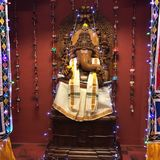 Lord Ganesh. A wooden statue of Lord Ganesh royalty free stock image