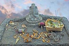 Lord Ganesha överst av den Bromo vulcanoen på Java Indonesia Arkivfoto