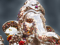 Lord Ganesha. A beautiful elegant idol of lord Ganesha made out of small pieces on mirrors Stock Photography