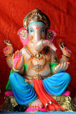Lord Ganesha -. A life-like clay model of Lord Ganesha is made 2-3 months prior to the day of Ganesh Chaturthi. The size of this idol may vary from 3/4th of an Royalty Free Stock Photography