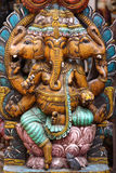 Lord ganesha. Close up of  wooden lord ganesha idol Royalty Free Stock Images