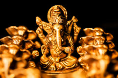 Lord Ganesha amongst Ganesha's close up Stock Image
