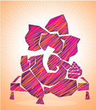 Lord ganesha art 1 Stock Images