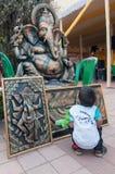 Lord Ganesha, Art work , Indian handicrafts fair at Kolkata Stock Photo