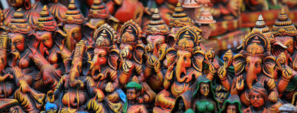 Lord Ganesha banner Royalty Free Stock Photo