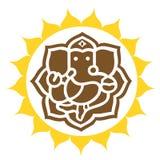 Lord Ganesha in bekroonde ring Royalty-vrije Stock Afbeelding