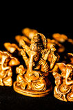 Lord Ganesha on black background Royalty Free Stock Photography