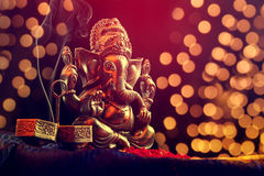 Lord Ganesha. With Blured bokhe background Royalty Free Stock Images