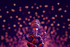 Lord Ganesha with Blured bokhe background Royalty Free Stock Photos