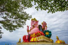 Large statue of Lord Ganesha at Prong Arkad Temple in Amphoe Bang Nam Priao,Chachoengsao Province,Thailand. royalty free stock photography