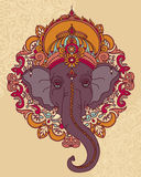 Lord Ganesha, can be used as card for celebration Ganesh Chaturth Stock Images
