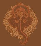 Lord Ganesha, can be used as card for celebration Ganesh Chaturth Stock Photography