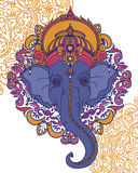 Lord Ganesha, can be used as card for celebration Ganesh Chaturth. I, vector illustration stock illustration