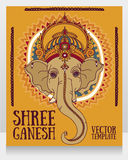 Lord Ganesha, can be used as card for celebration Ganesh Chaturth Royalty Free Stock Image