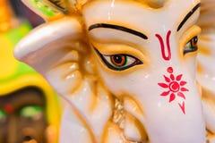Lord Ganesha Dolls, trabalho de arte, artesanatos indianos justos em Kolkata Foto de Stock Royalty Free