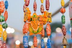Lord Ganesha Dolls, trabalho de arte, artesanatos indianos justos em Kolkata Fotografia de Stock