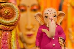 Lord Ganesha Dolls, trabalho de arte, artesanatos indianos justos em Kolkata Fotos de Stock