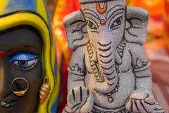Lord Ganesha Dolls, trabalho de arte, artesanatos indianos justos em Kolkata Imagem de Stock Royalty Free