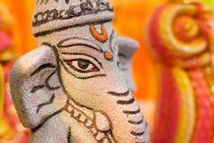 Lord Ganesha Dolls, trabalho de arte, artesanatos indianos justos em Kolkata Imagem de Stock