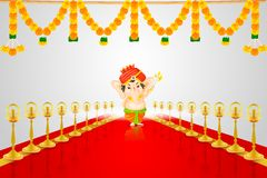 Lord Ganesha. Easy to edit vector illustration of Lord Ganesha Royalty Free Stock Images