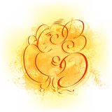 Lord Ganesha. Easy to edit vector illustration of Lord Ganesha Stock Photos