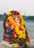 Lord Ganesha f?rebild arkivbilder