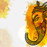 Lord Ganesha Face for Ganesh Chaturthi. Stock Image