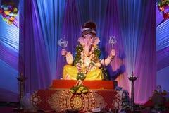 Lord Ganesha Ganesh Festival, Pune, Indien arkivbilder