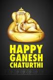 Lord Ganesha gjorde av guld för Ganesh Chaturthi Arkivbilder