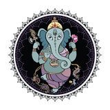 Lord Ganesha Hand drawn illustration. Royalty Free Stock Photos