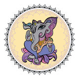 Lord Ganesha Hand drawn illustration. Royalty Free Stock Images