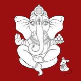 Lord Ganesha Hand drawn illustration. Royalty Free Stock Image