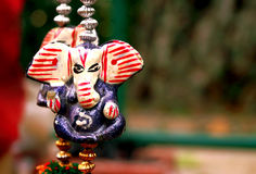 Lord Ganesha:Hanging god of Prosperity. Keychain of Lord Ganesha (the god of prosperity according to Hindu Mythology) which can be gifted as travel souvenirs Stock Images