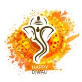 Lord Ganesha for Happy Diwali celebration. Stock Images