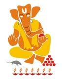 Lord Ganesha - Illustration isolated. Illustration of Hindu God, Lord Ganesha, revered as God of wisdom and knowledge Royalty Free Stock Photos