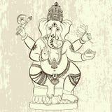 Lord Ganesha indou Photos libres de droits