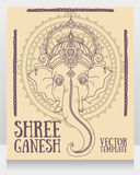 Lord Ganesha, kann als Karte für Feier Ganesh Chaturth verwendet werden Lizenzfreies Stockfoto