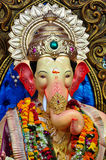 Lord Ganesha in Lalbaug stock foto's