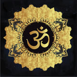 Lord Ganesha Om mandala symbol. Royalty Free Stock Photo