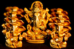Lord Ganesha onder negen Ganesha Stock Foto's