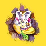Lord Ganesha in paint style Stock Images