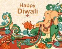 Lord Ganesha para a oração de Diwali Imagem de Stock