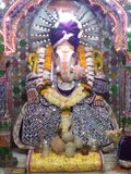 Lord Ganesha. This is photo shoot of shri lord Ganesha temple situated at a place in Indore,its is one of the old temple with avery attractive statue of lord royalty free stock images