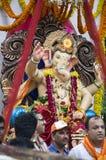 Lord Ganesha Procession einer Stockbilder