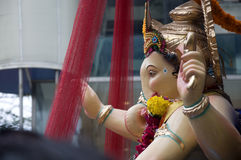 Lord Ganesha Procession Five Stockfotos