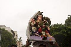 Lord Ganesha Procession Seven Arkivbilder