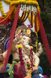 Lord Ganesha Procession Two Stock Images