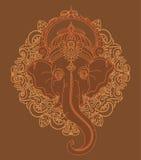 Lord Ganesha, puede ser utilizado como tarjeta para la celebración Ganesh Chaturth Fotografía de archivo
